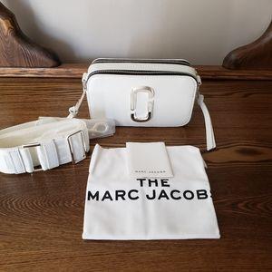 Marc Jacobs Snapshot Leather Crossbody - DTM White